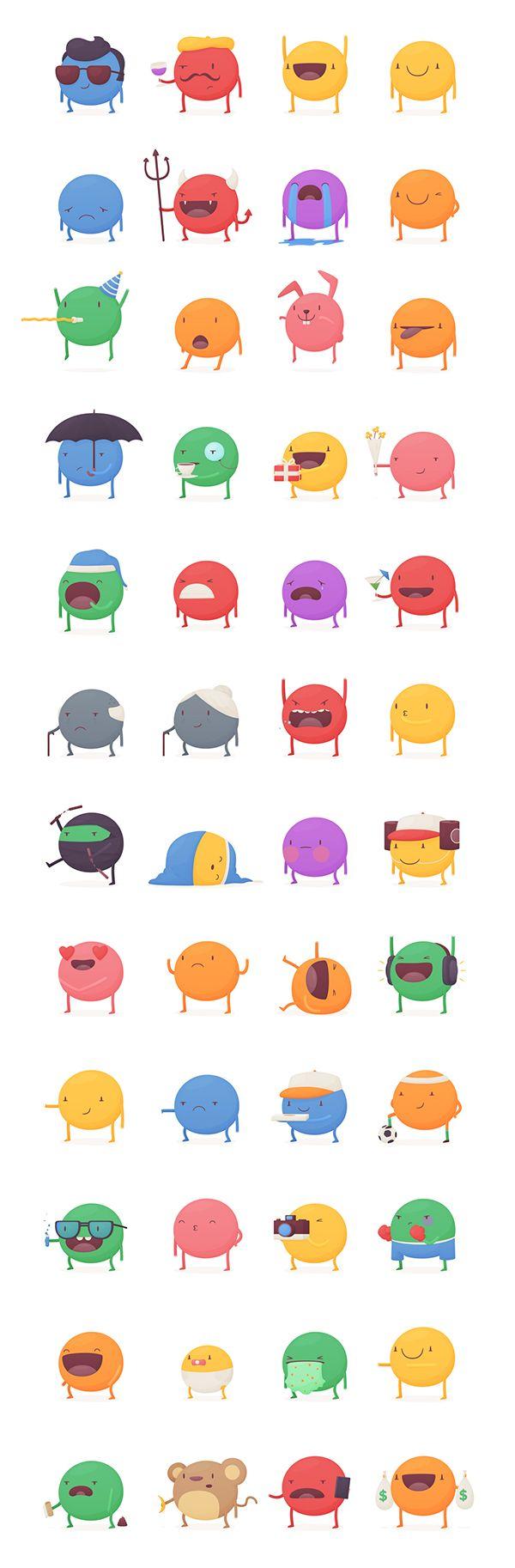 KeWe Stickers by Thomas Fitzpatrick, via Behance