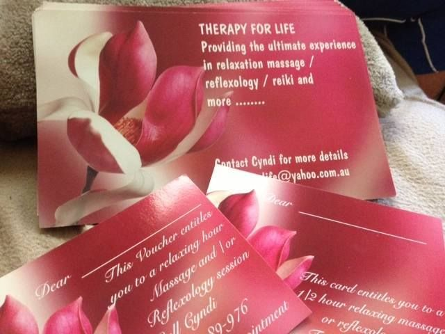 Cyndi Giles Therapy4Life and Counselling service, Local business. Thank you for your excellent service.