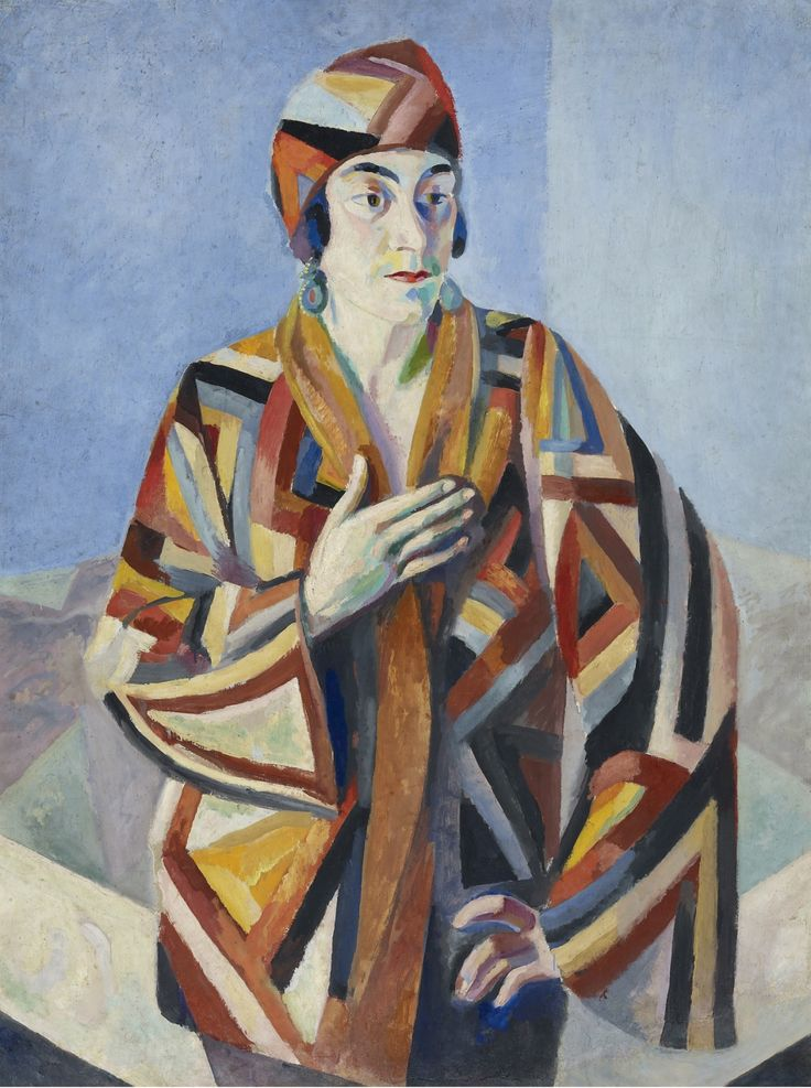 Robert Delaunay (French, 1885-1941) Portrait of Madame Mandel, 1923. Oil on board, 41 1/4 x 29 1/8 in (105 x 74 cm). Sotheby's Impressionist & Modern Art Day Sale, May 2012, New York.