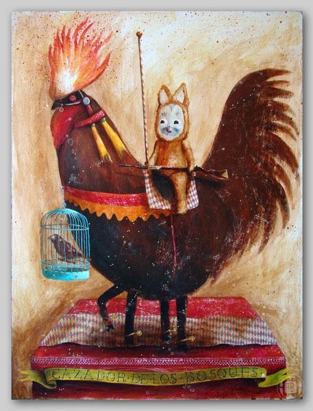 *Cazador* by Robert Romanowicz, via Behance: Birds Art, Wonder Robert, Robert Romanowicz, Mi Paintings, Behance, Illustration, Art Mine, Whimsical Art, Illustrated Paintings