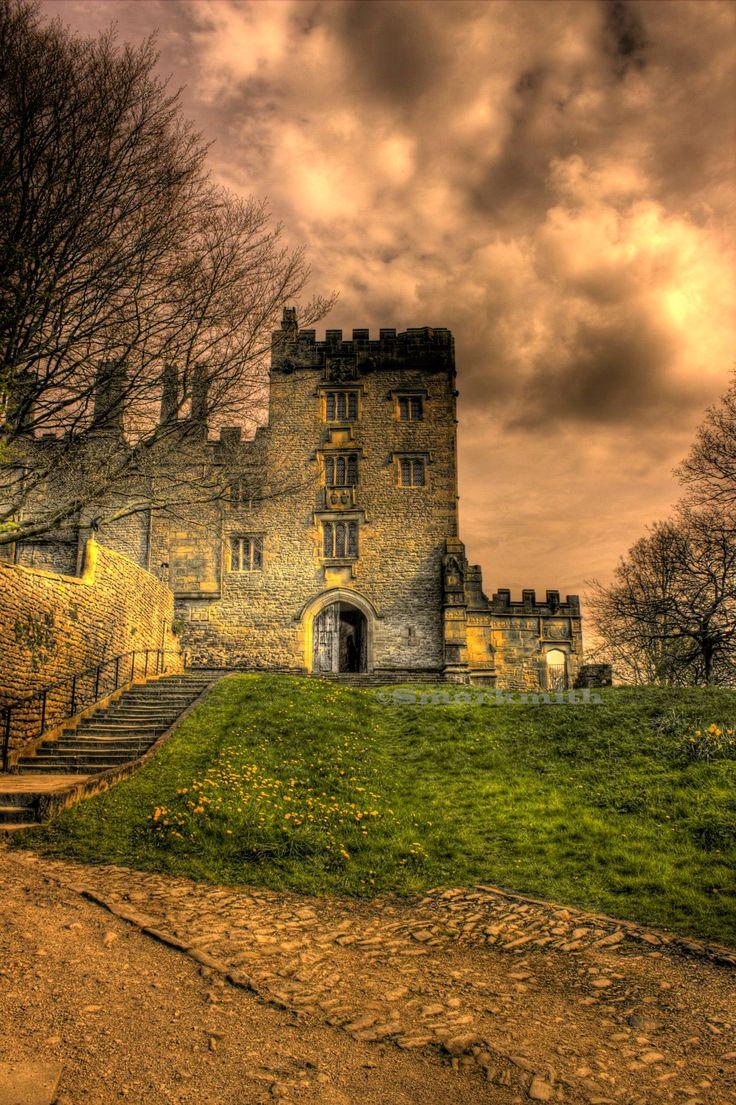 Haddon Hall, Derbyshire at dusk