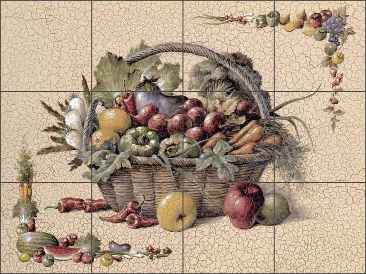 kitchen tiles with fruit design. ceramic tile mural backsplash chiu kitchen fruit vegetable art ec-tc006 tiles with design