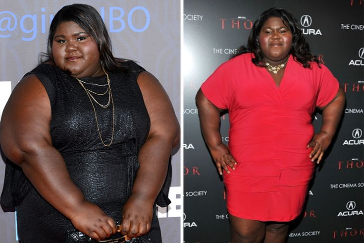 Gabourey Sidibe Since her break out role as Precious for which she nominated to several awards, Gabourey has shown a dramatic weight transformation after losing 50 pounds. She looks much healthier now!