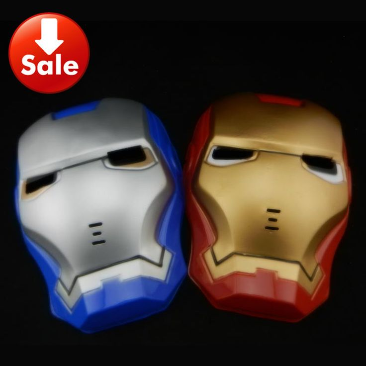 Железо человек шлем косплей ужин Hero комикс железо человек маска закрытый шлем хэллоуин ну вечеринку маска красный синий цвет 50 pcs/lot