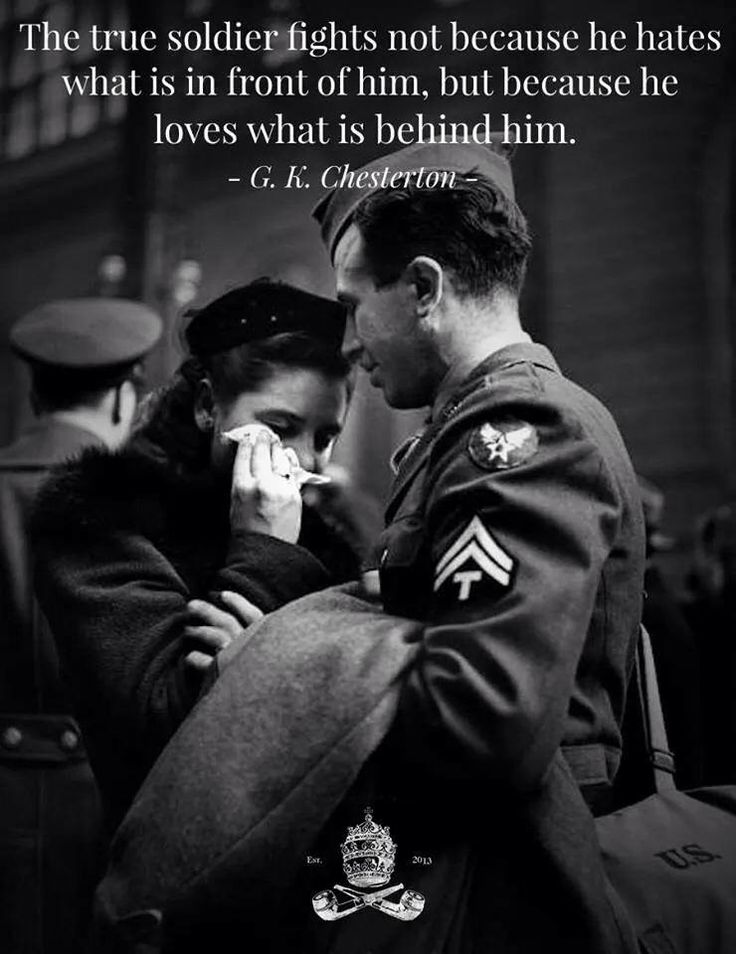 true soldier fights not because he hates what is in front of him ...