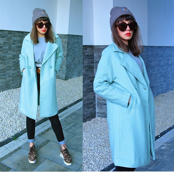 mint coat and carhartt beanie ootd: https://jointyicroissanty.blogspot.com/2017/11/wool-mint-coat.html
