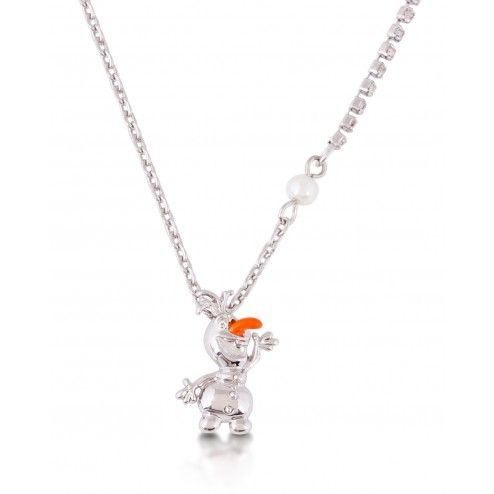 Disney Couture Frozen Olaf the Snowman Pendant Necklace at Aquaruby.com