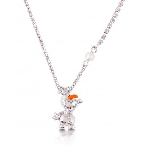 Disney Couture Frozen Olaf the Snowman Pendant Necklace at Aquaruby.com