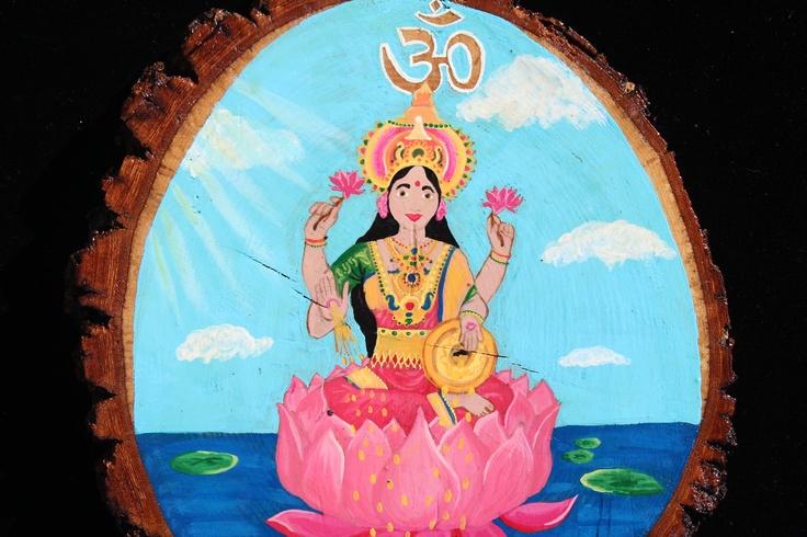 Hand painted Lakshmi Mandala. $50.00, via Etsy.