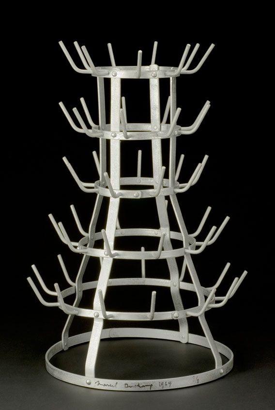 """Marcel Duchamp (1887-1968) """"Bottle dryer [Bottle rack]"""", 1914 reconstructed 1964"""