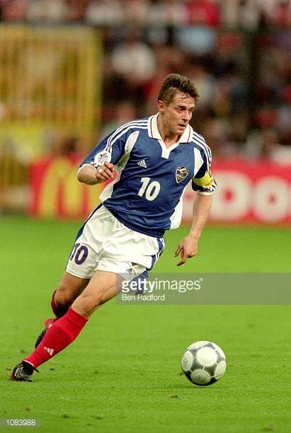 Dragan Stojkovic of Yugoslavia in action during the European Championships 2000 Group C match against Norway played at the Sclessin Stadium in Liege...