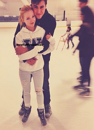 Nice Photo Of Ryan McCartan And Dove Cameron Ice Skating October 25, 2013