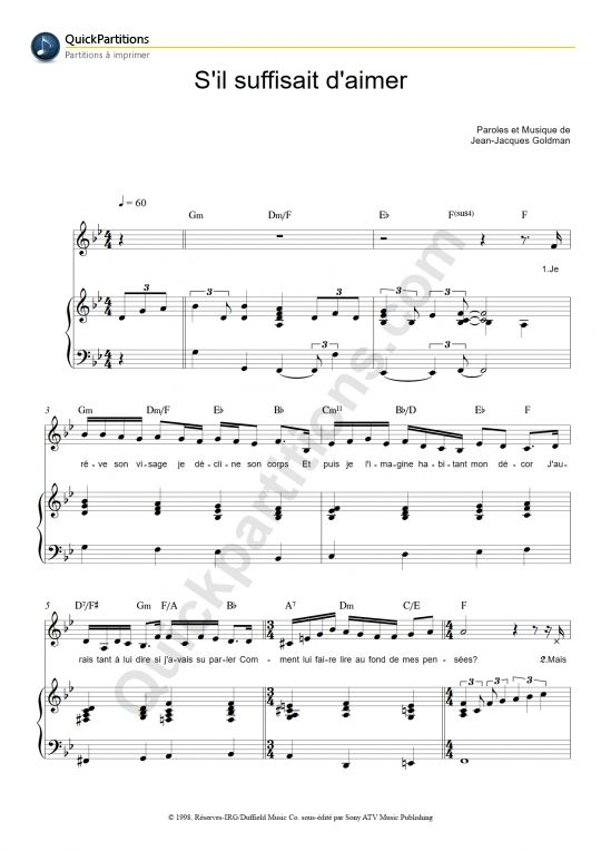 Piano u00bb Tablature Piano Mistral Gagnant - Music Sheets, Tablature, Chords and Lyrics