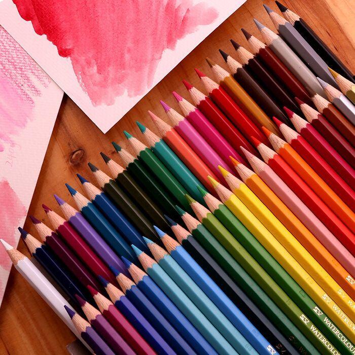 Details About 48 Colors Classic Faber Castell Coloured Pencils