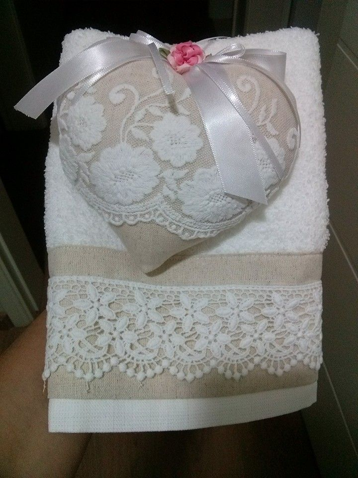 Toalha de lavabo + sache perfumado