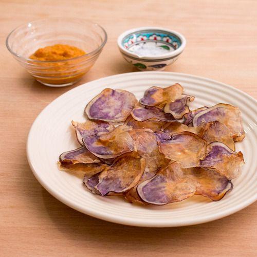 Oven baked pretty potato chips | pea hugger