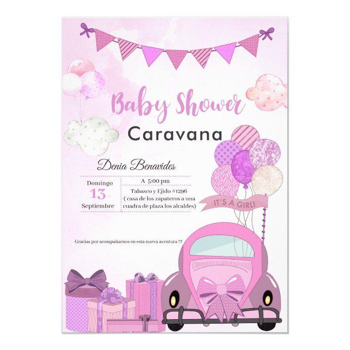 Impulso Por Invitación A Desfile De Baby Shower Zazzle Com Invitaciones Para Baby Shawer Invitaciones Para Baby Invitaciones