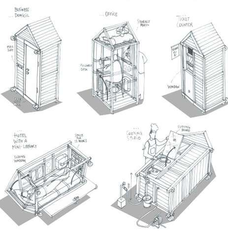 German architect Van Bo Le-Mentzel built the world's smallest house an affordable 1-square meter house providing the basic necessities one needs. As a Laotian refugee, Van Bo Le-Mentzel understands what it's like to struggle with everyday needs. Once homeless, the architect planned out in detail how to use the smallest space while providing shelter, a kitchen, a sleeping and office space.