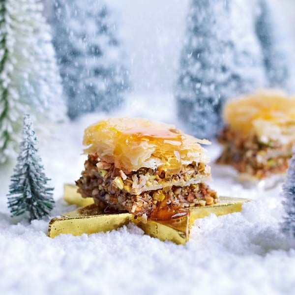 For a Christmas dessert  recipe with a difference, why not try this Middle Eastern-inspired honey-sweet, crisp baklava?