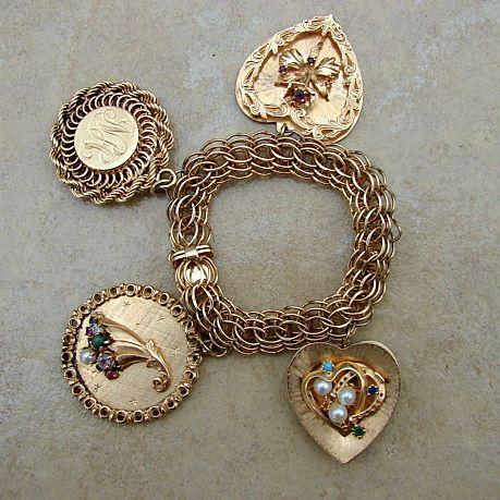 1000 ideas about gold charm bracelets on