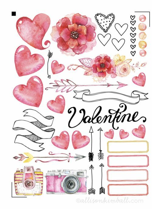 Free Planner Stickers from Alison Kimball
