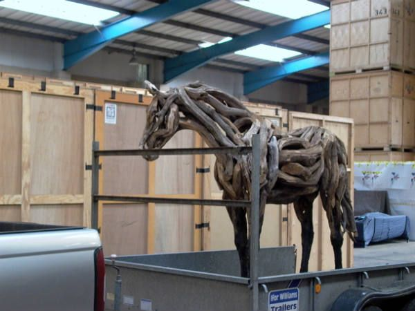 Creative Driftwood Horse Sculptures by Heather Jansch