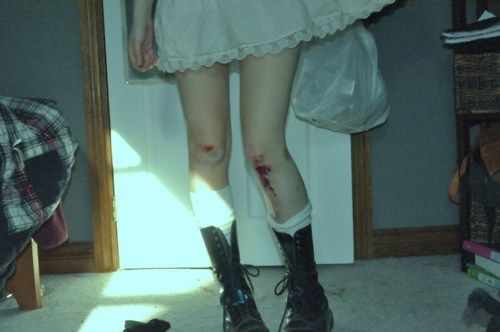 Bloody knees and Combat boots... ah yes, it was a good night.