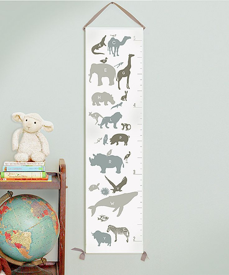 Love this Neutral Alphabet Animals Growth Chart by Gus & Lula on #zulily! #zulilyfinds
