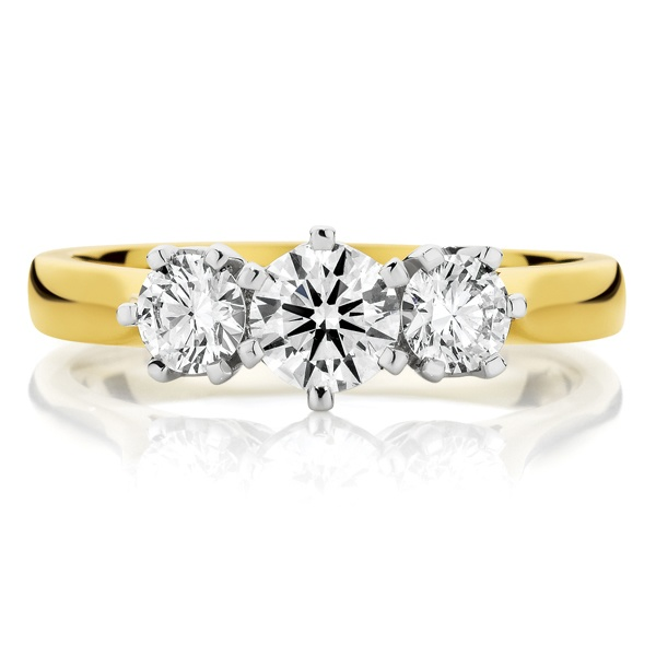 Canadian Fire 18ct Yellow Gold Diamond Ring Engagement
