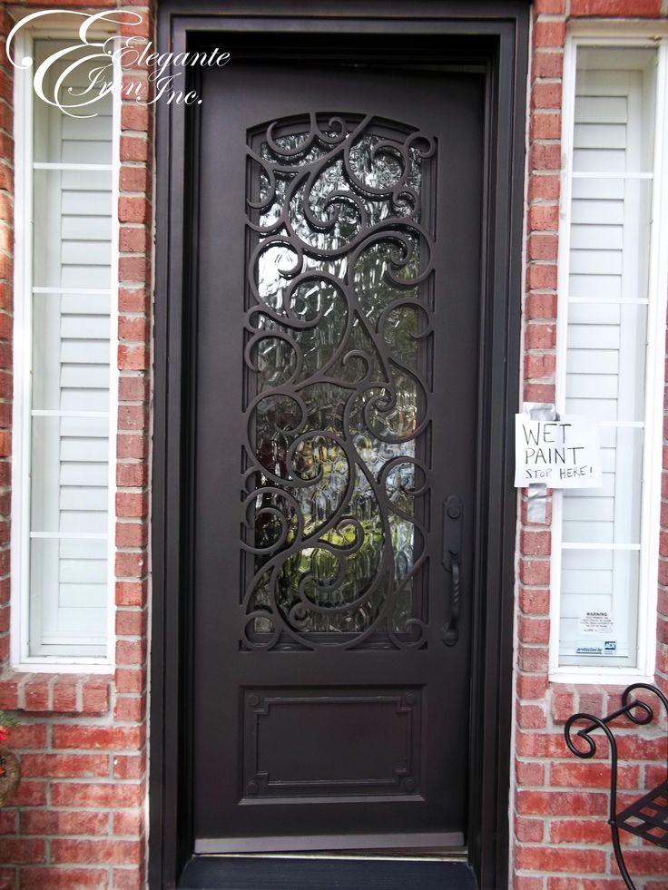 Custom Wrought Iron Front Door Single Doors Pinterest