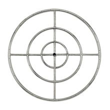 "36"""" Stainless Steel Fire Pit Ring Burner - By American Fireglass"