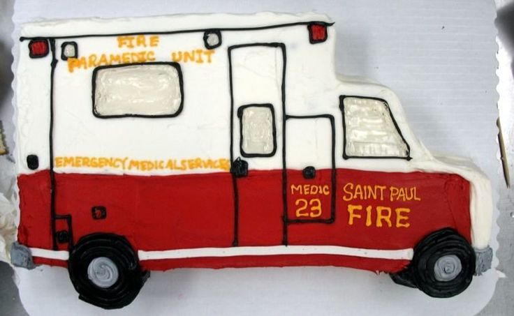 Ambulance Cake  on Cake Central