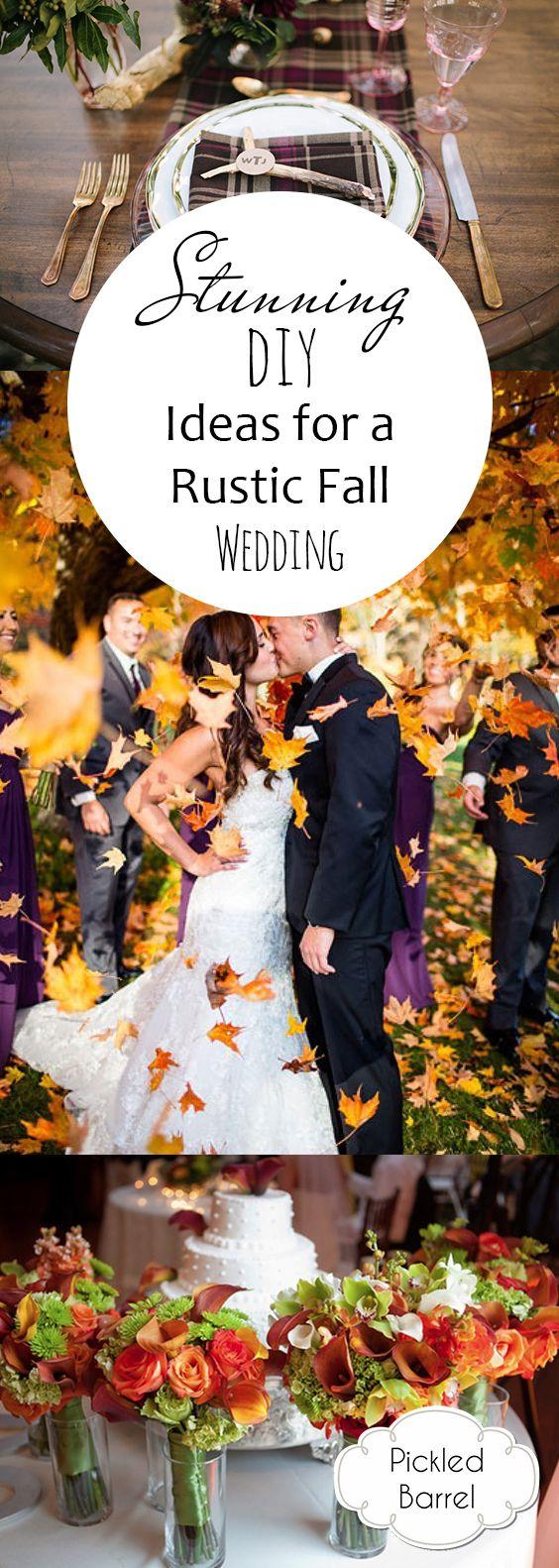 1987 best Fall Wedding Ideas images on Pinterest   Fall wedding ...