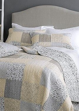 New Spring 2016 Cream, Black and Grey King Size Quilt SET COMING SOON | Coast & Country Interiors