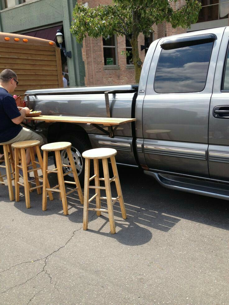 Something similar for the Jeep, maybe on both sides, that adds some table space/prep space??