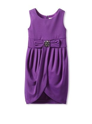 63% OFF Blush by US Angels Girls 7-16 Tulip Dress with Bow (Plum)