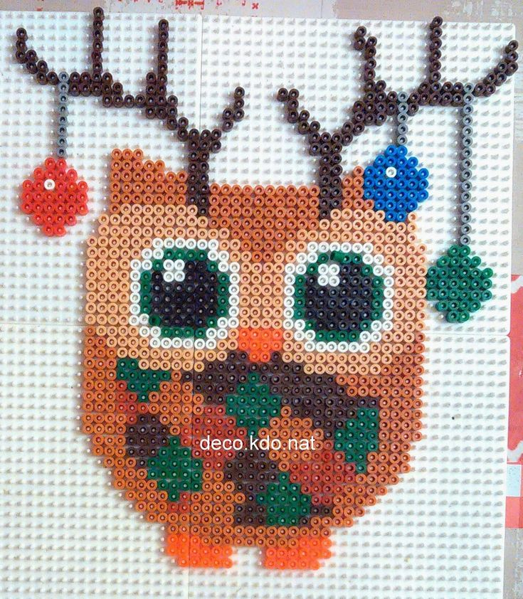 Christmas owl hama perler beads by Deco.Kdo.Nat - http://www.pinterest.com/pin/374291419006039406/