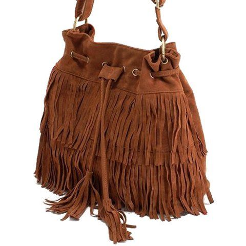 Pretty Tassels and Suede Design Crossbody Bag For Women, BROWN in Crossbody Bags | DressLily.com