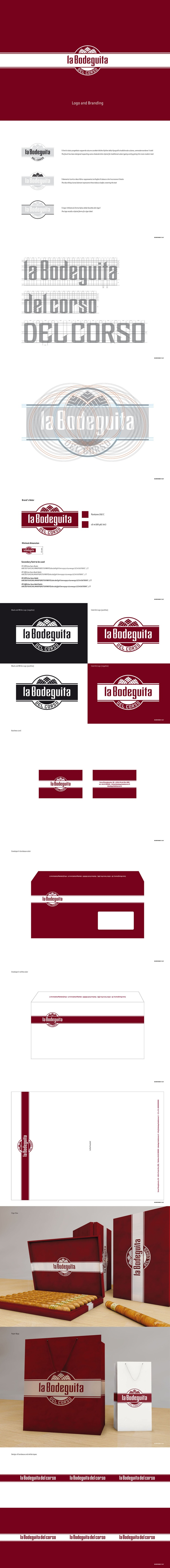 Logo Design and Corporate Identity for La Bodeguita del Corso - © Concreate Studio®