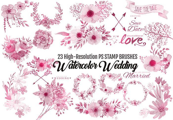 Watercolor Flower Brushes 16 Beautiful Watercolor Designs For