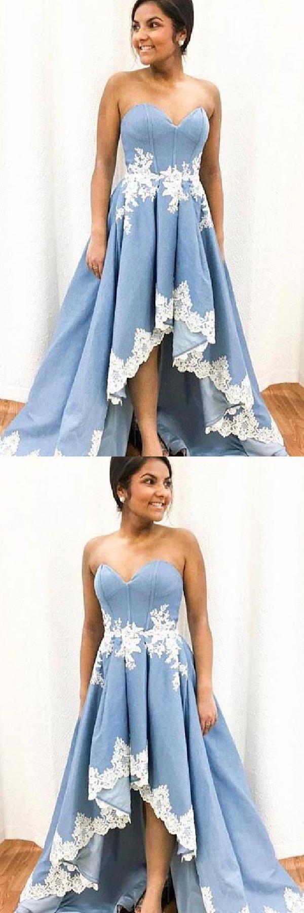 Lace White Prom Dress #LaceWhitePromDress, White Prom Dress #WhitePromDress, Pro…
