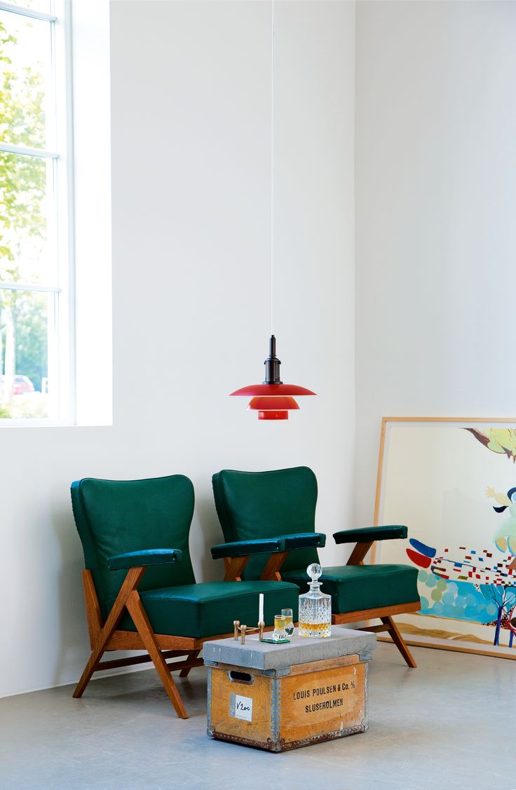 Moooi hang light pendant lamp by marcel wanders stardust - A Classic Ph 3 3 Pendant Lamp In A Beautiful Red Color