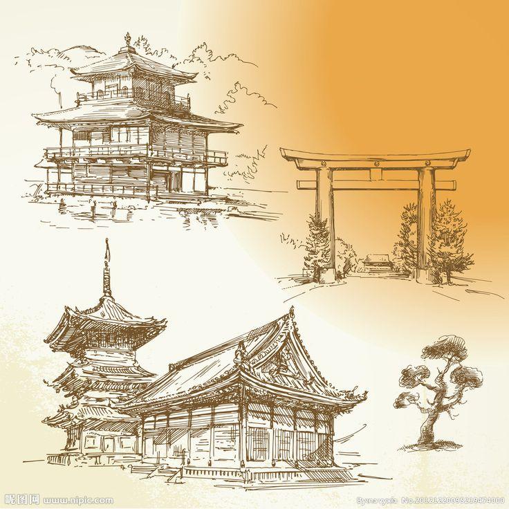 Pagoda Japanese Tattoo Drawings Tattoo Ideas