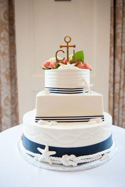 awesome Pièce montée 2017 - Nautical Cape Cod Golf Club Wedding