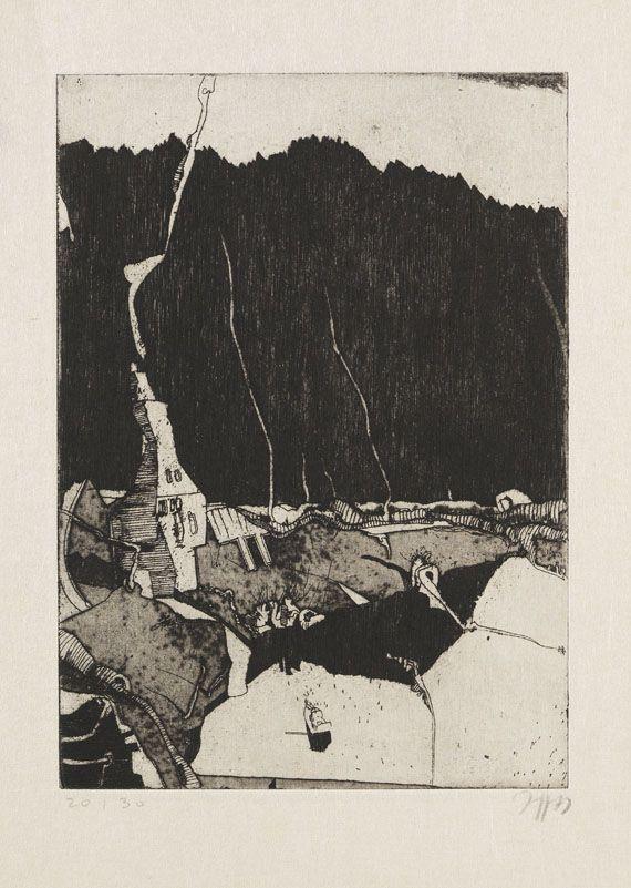 Janssen, Horst - Radierung