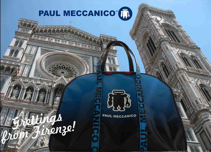 Prepara il borsone da viaggio Paul Meccanico e scopri la bellissima città di Firenze.