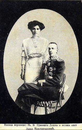 Jelena von Serbien mit Großfürst Iwan Konstantoniwitsch
