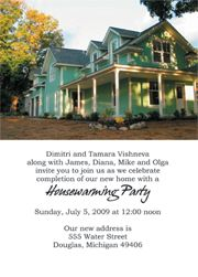 housewarming party invitation wording | for prices custom housewarming invitations flat 5 x 7 flat invitations ...