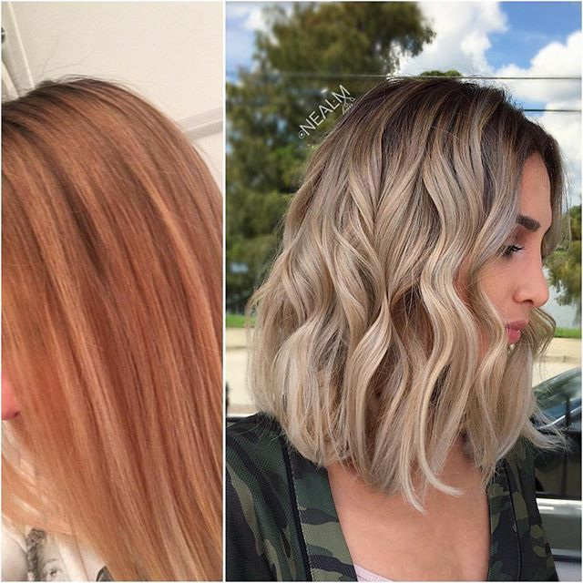 "#transformationtuesday with Formulaby @nealmhair! ""I did #faceframe #highlights with #oligopro - then rooted her with #schwarzkopf #igora 5-1 - then #balayage #hairpainting between her foils and all over with #oligopro #blacklightclaylightner using #embeemeche to isolate my painted pieces then toned her with #schwarzkopfusa 9,5-1 + 9,5-29 + 0-11 - added #brazilianbondbuilder in every color bowl . . . . #makeover #lob #lobhaircut #blonde #balayage #blondebalayage #fallblonde #fallha..."