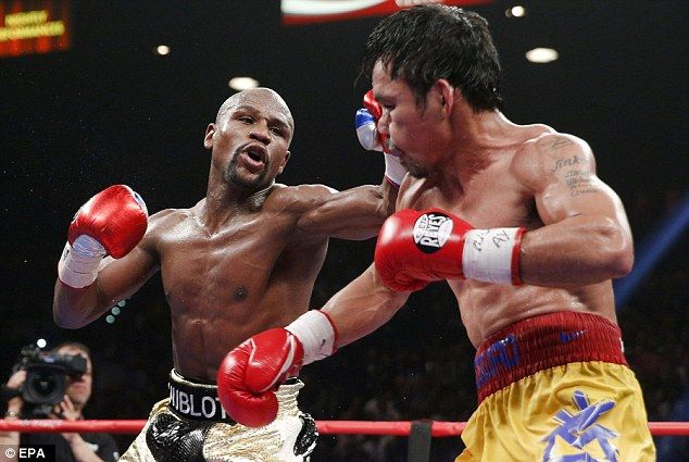 Demolition: Mayweather recorded a comprehensive victory over Pacquiao